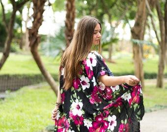 Floral Kimono, Boho Kimono, Womens Kimono Beach Cover Up, Kimono Cardigan, Kimono, Shrugs, Boho Top, Festival Jacket, Tribal Kimono, Spring