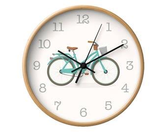 Bike wall clock Bike clock Bicycle wall clock Bicycle clock Nursery wall clock Nursery clock Nursery decoration kids clock kids wall clock