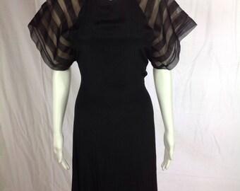 Alicia Open Back Dress Black Size 7/8