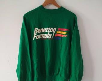 Rare Vintage United Colors Of Benetton Sweatshirt Size M