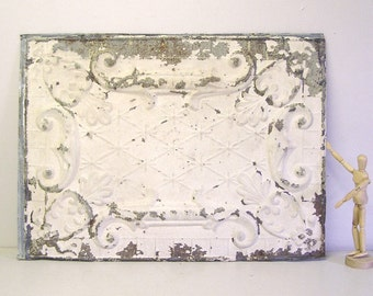 vintage tin tile, antique tin ceiling, architectural salvage