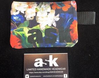 Realistic Floral Zipper Wallet, Coin Purse, Fabric Wallet, Vegan Wallet, Zipper Pouch, Change Pouch, Women Wallet, Men Wallet, Small Bag