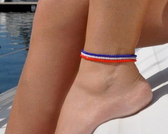 July 4th Anklet | Patriotic Anklet | 4th of July Anklet | USA Flag Anklet | July 4th Jewelry | Patriotic Jewelry | Red White and Blue