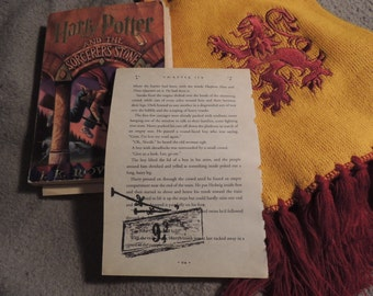 Harry Potter Book Art; Original drawing; Fan Gift; Home Decor