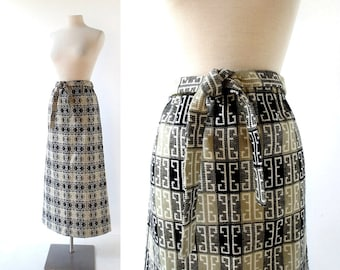 1970s Maxi Skirt | Die Architektin | 70s Skirt | 26-32W S M