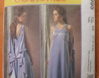 McCall's 4995 Star Wars Pattern Padme Amidala OOP Costume Pattern 14-20 ~ CUT ~ to largest size