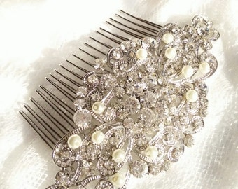 Wedding Hair Comb, Rhinestone Hair comb, Bridal jewelry, Crystal wedding headpiece, bridal comb, Bridesmaids hair comb, Crystal headpiece 26