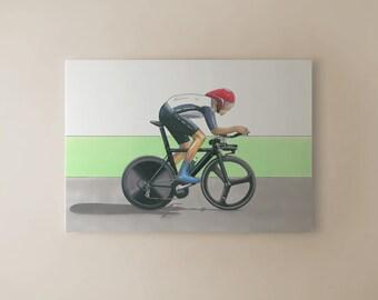 Bradley Wiggins Individual Time Trial, London 2012 Olympics CANVAS PRINT