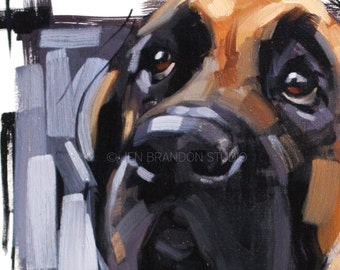 Mastiff Oil Painting
