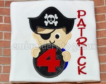 Pirate Birthday Shirt, Boys Pirate Shirt, Toddler Boys Birthday Shirt, 4th Birthday Shirt, Birthday Shirt, Boys Birthday Outfit