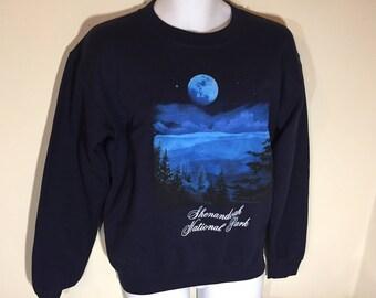 SHENANDOAH NATIONAL PARK Virginia-- Long Sleeve Sweat Shirt Adult S    t