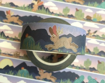 Jackalope Southwest Desert Wildlife Washi Tape