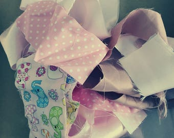 Pink fabric scraps