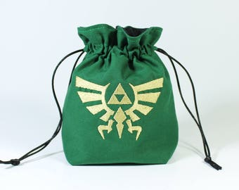 Triforce Dice Bag, Drawstring Bag