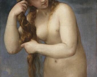 Titian: Venus Rising from the Sea. Fine Art Print/Poster. (001952)