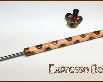 "Expresso Bean Paper Bead Roller / Tool from the Lots of Dots Collection - Your Choice 1/8"" or 3/32"" Tutorial Included"