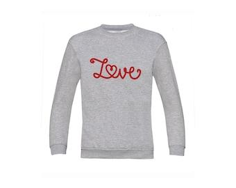 Love sweater, Kids love sweater, heart sweat, kids valentines sweater, valentines day sweater, kids valentines gift, kids heart sweater
