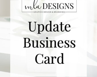 Update Business Card - Update One Side of your Business Card