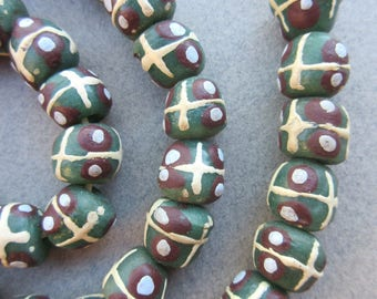 African Krobo Glass Beads