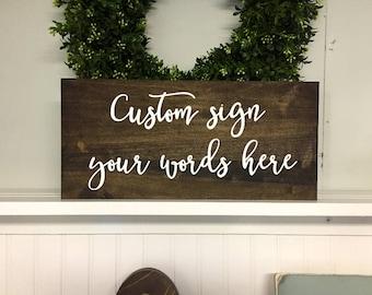 custom sign etsy