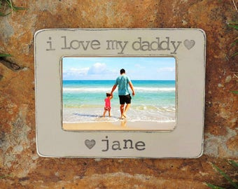 father's day frame, Personalized father's day gift, Custom Picture frame gift for dad, I love my daddy gift,  grandpa gifts, gifts for papa