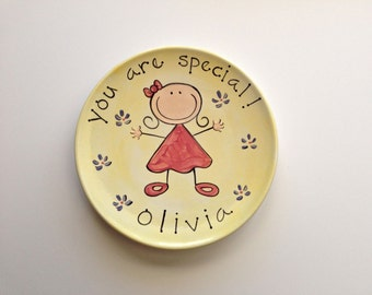 you are special custom ceramic plate for girl