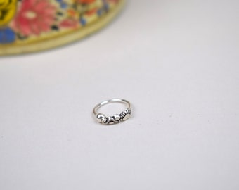 Silver NoseRing, Nose ring, Sterling Silver, Unique Nosering, Indian, Tragus, Single Earring, Cartilage, Piercing, Body Jewelry