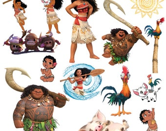 100 Moana clipart, Moana clip art, moana png, moana princess clipart, disney clipart, cartoon clipart, disney, moana png, digital download