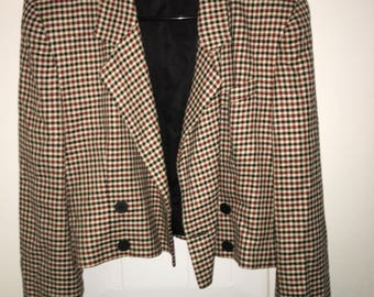New Year SALE! 10% OFF!1960s/70s Cropped Checkered Jacket