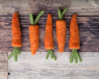 Small Felted Carrot Photo Prop rts