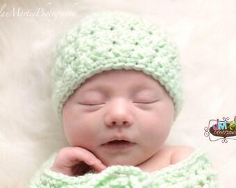 Star Stitch Beanie - Newborn through 12 months - Crochet - Beanie ONLY