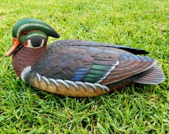 Hand Carved Wooden Goose Duck Decoy Collectible wooden Decoy Duck Goose