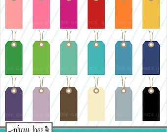SALE! Gift Tag with String-Tag-Hang Tag-Clipart Set, Commercial Use, Instant Download, Digital Clipart, Clip Art, Planner Clip Art- MP236
