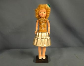 Vintage mixed media art doll assemblage 3-D collage with eclectic parts