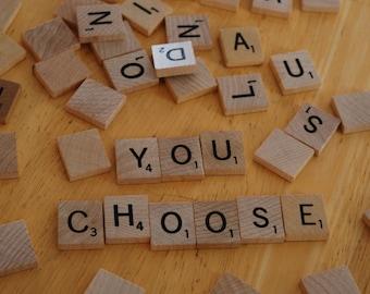 Individual Scrabble letter tiles, Authentic Scrabble Tiles, Scrabble Letters A to Z, Scrabble Tiles, Genuine Scrabble tiles
