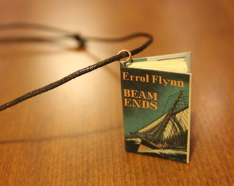 4cm Errol Flynn 'Beam Ends' Miniature Book Necklace