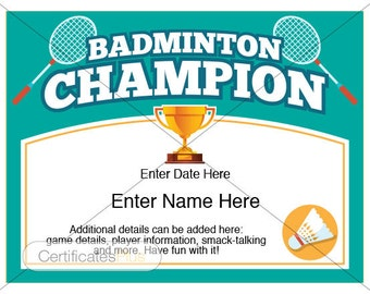 Disc golf certificate champion award disc golf award badminton certificate kid certificate champion award badminton badminton trophy badminton gifts yelopaper Choice Image