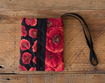 Red Poppy Wristlet