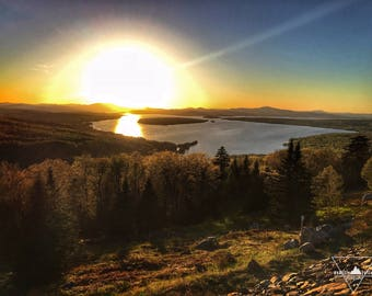 Height of Land Sunset- Rangeley, Maine - Photography
