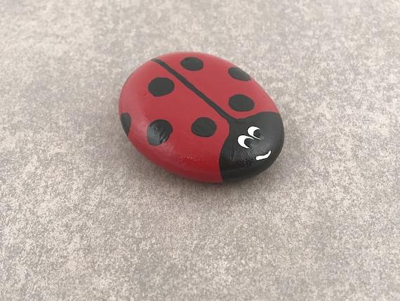 Ladybug Painted Rocks / Garden Decor / Garden Ornament /