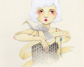 Ghost Huia print - SALE