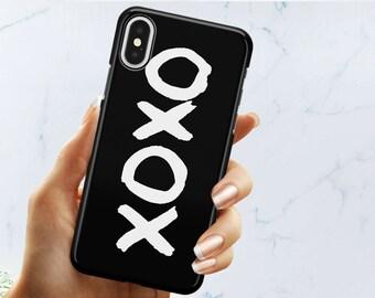 Black XO Pattern Hard Plastic Phone Case For iPhone X iPhone 8 iPhone 8 plus iPhone 7 iPhone 7 plus Iphone 6s iPhone 6plus