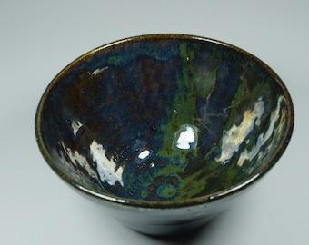 Handmade Medium Ceramic Rainbow Metallic Bowl