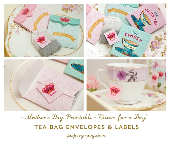 digital printable mother 39 s day tea bag envelopes labels. Black Bedroom Furniture Sets. Home Design Ideas