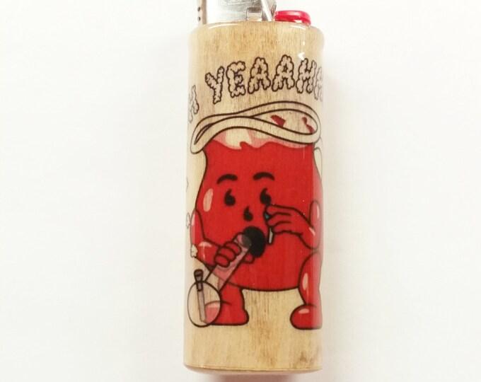 Kool-Aid Bong Lighter Case Holder Sleeve Cover Pot Weed Marijuana Ganja Oh Yeah