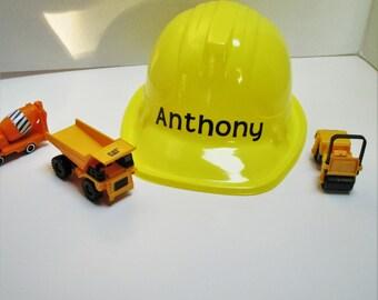 Personalized construction hats, construction hat, party favors