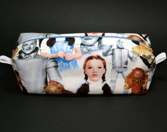 Boxy Makeup Bag - The Wizard of Oz - Follow The Yellow Brick Road Zipper - Pencil Pouch