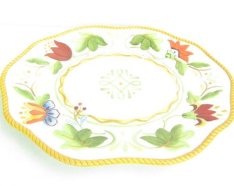 Serving platter, Fitz & Floyd ,ceramic dish,plater,vegetable tray,decorative plate,collectors plate.flower plate,