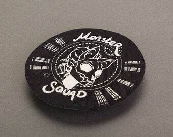 Monster Squad 8cm Screen Printed Raw Edge Patch