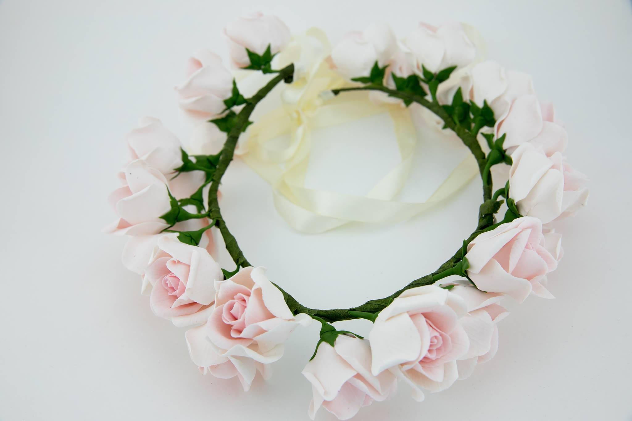 Flower Crown Wedding floral crown Pink floral crown Wedding